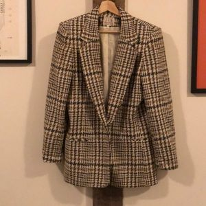 Oh Man: Grey/Brown/Tan/Cream Vintage Houndstooth